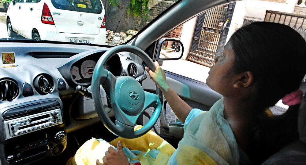 Female driver in India