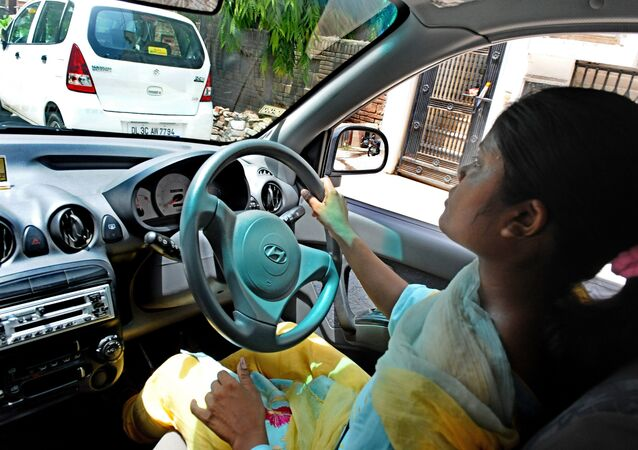 Female driver in India