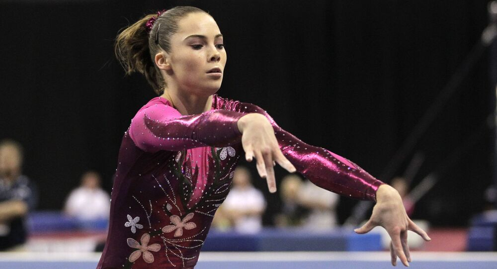 McKayla Maroney performs in the floor exercise during the women's senior division at the U.S. gymnastics championships on Friday, June 8, 2012, in St. Louis.