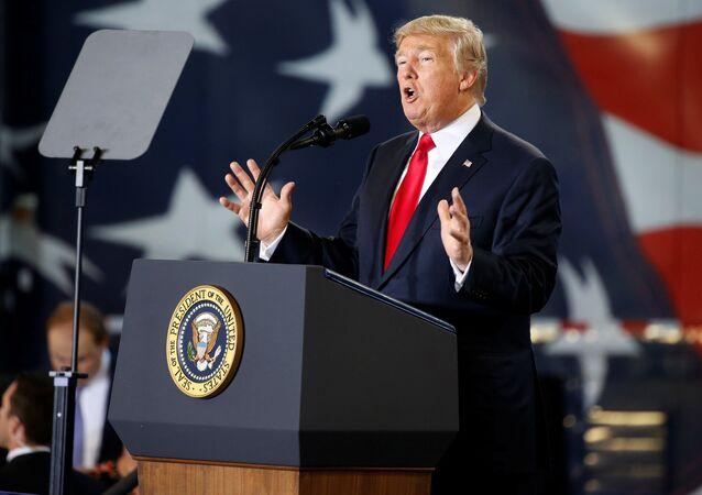 U.S. President Donald Trump speaks about tax reform in Harrisburg, Pennsylvania, U.S., October 11, 2017