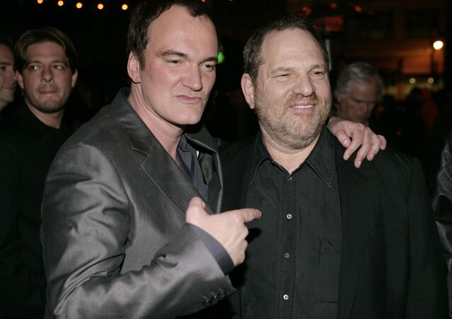 Director Quentin Tarantino, left, and Harvey Weinstein pose together at the after party for the premiere of Grindhouse in Los Angeles, on Monday, March 26, 2007