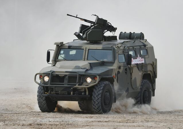 A Tigr armored vehicle carrying an Arbalet remote controlled weapon station during a show of modern and prospective weaponry at the Army 2017 International Military-Technical Forum, Moscow Region. File photo