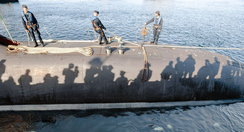The Type U212-class German submarine U33 in the harbor in Eckernfoerde, Germany, on Saturday, Sept. 27, 2014.
