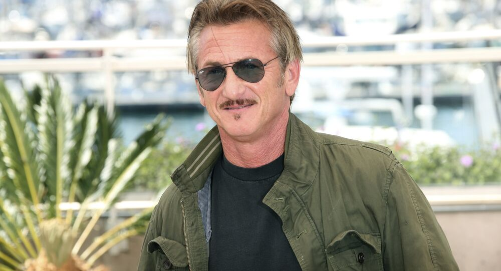 Director Sean Penn poses for photographers during a photo call for the film The Last Face at the 69th international film festival, Cannes, southern France, Friday, May 20, 2016.