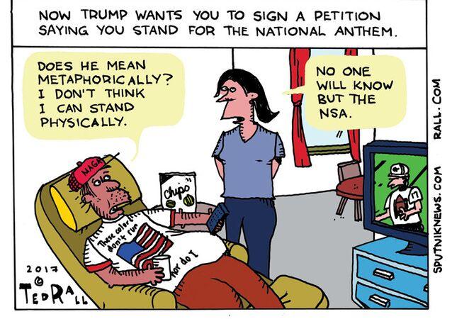 Trump Anthem Petition Cartoon