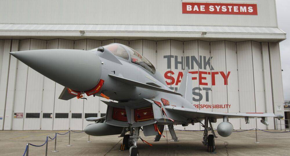 Eurofighter Typhoon at BAE Systems, Warton Aerodrome, near Warton northwest England.