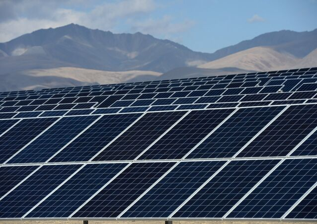 The Kosh-Agachskaya solar power plant in the Republic of Altai. (File)