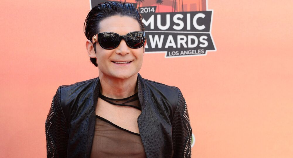 Corey Feldman arrives at the iHeartRadio Music Awards at the Shrine Auditorium in Los Angeles. (File)