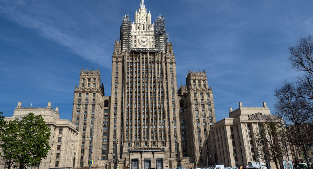 The Ministry of Foreign Affairs of the Russian Federation building in Moscow