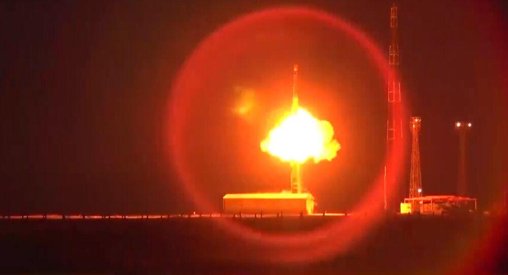 RS-12M Topol intercontinental ballistic missile launch. File photo