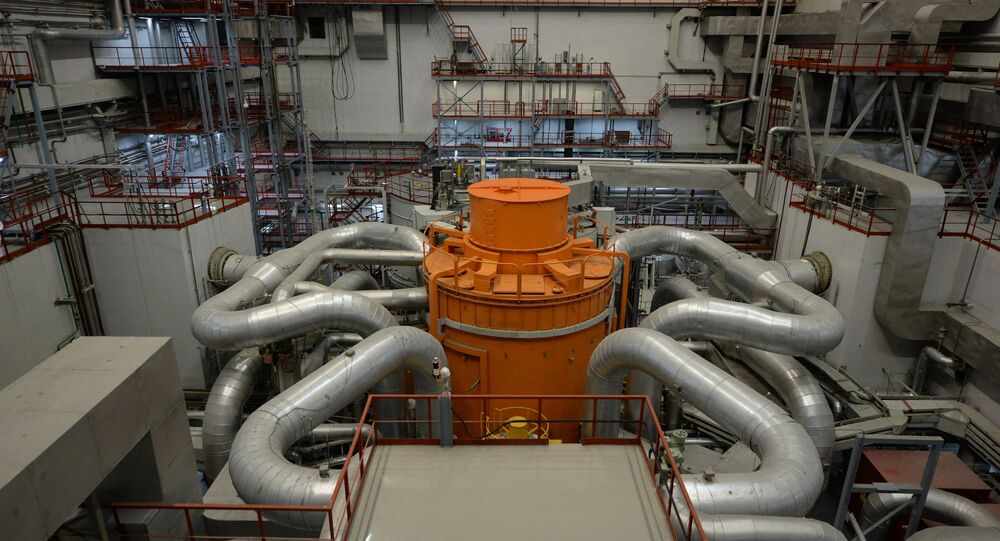 The central hall of the fourth generating unit with a BN-800 nuclear reactor at the Beloyarskaya Nuclear Power Plant in Zarechny, Sverdlovsk Region. (File)
