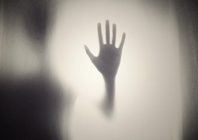 Man's silhouette