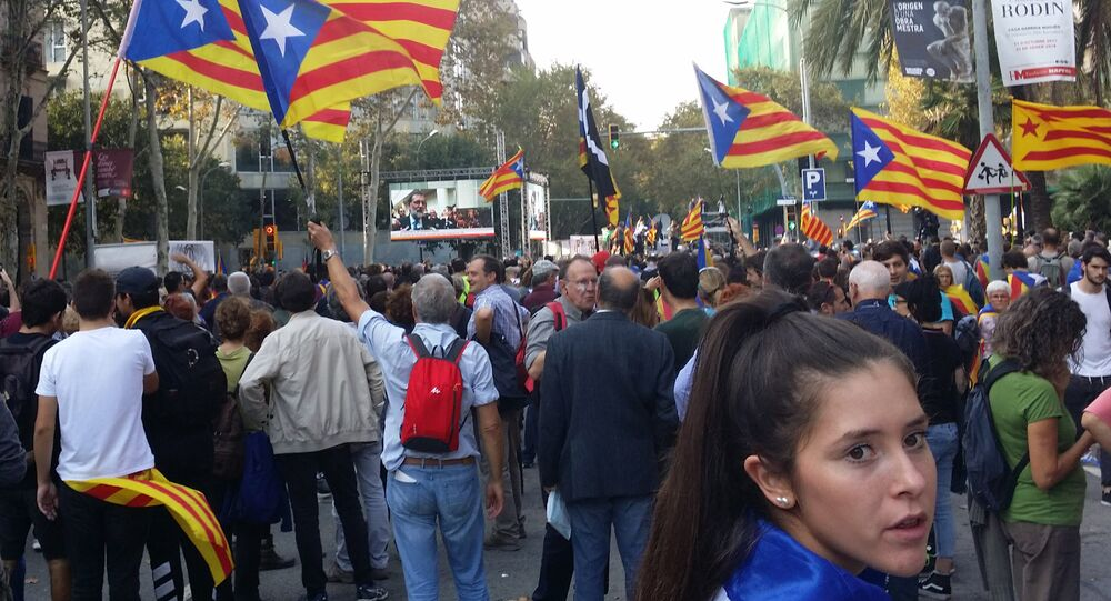 Supporters of independence in Catalonia.