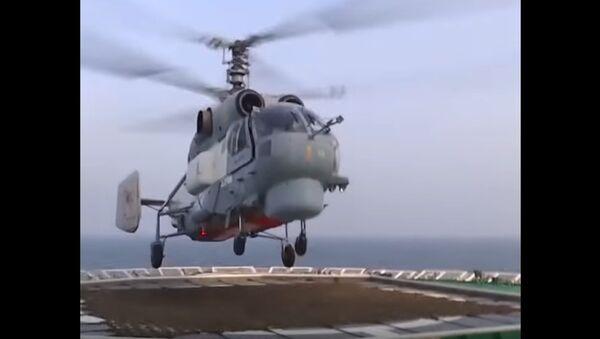 Landing of a Ka-27 on the Deck of an Icebreaker - Sputnik International