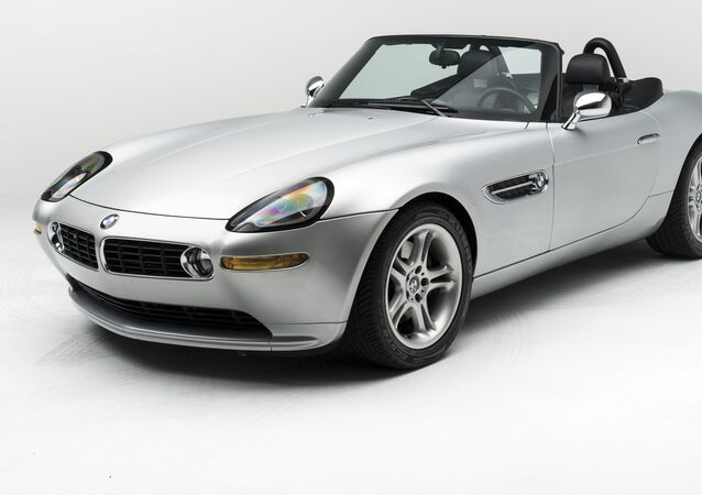In this 2017 photo provided by RM Sotheby's, a 2000 BMW Z8 owned bay Steve Jobs is shown.