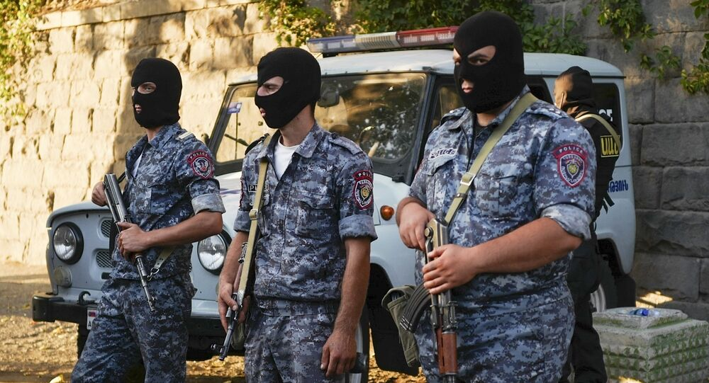 Police officers, Armenia (File)