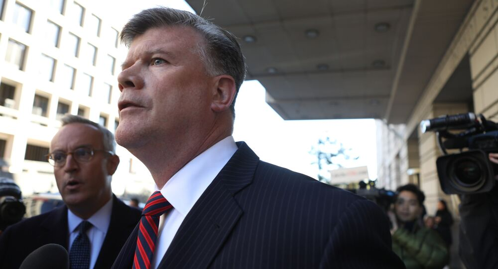 Kevin Downing, attorney for former Trump campaign manager Paul Manafort (Not Pictured), exits U.S. District Court to face reporters after Manafort surrendered to federal authorities in the first charges stemming from a special counsel investigation of possible Russian meddling in the 2016 presidential election in Washington, U.S., October 30, 2017.