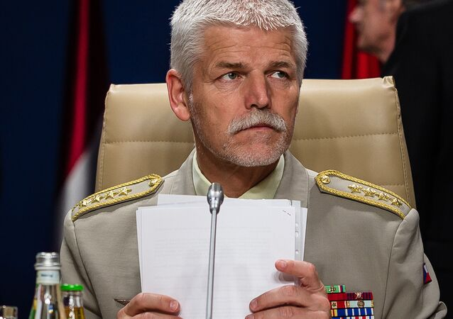 NATO's Military Committee Chairman Petr Pavel is seen before a working session of the North Atlantic Council during the NATO Summit in Warsaw, poland, on july 09, 2016