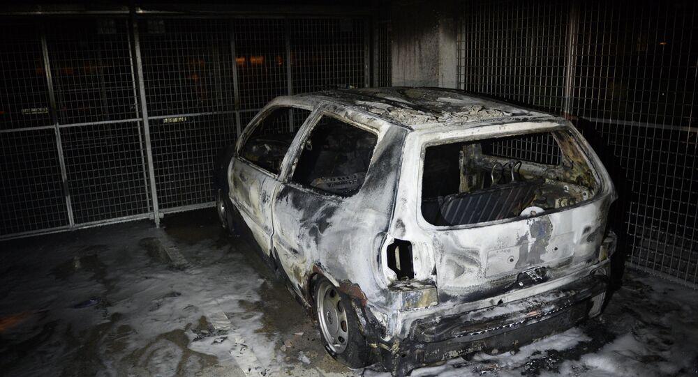Burned car. (File)