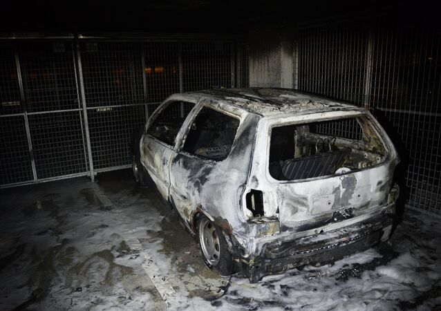 Burned car. (File)