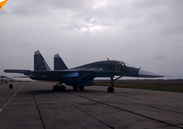 Su-34 Jets Perform Aerial Refuelling