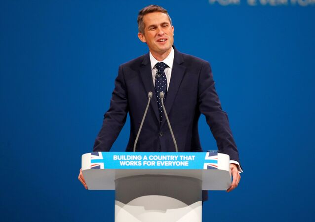 Gavin Williamson, the Conservative Party's Chief Whip, addresses the party's conference in Manchester, Britain October 4, 2017.
