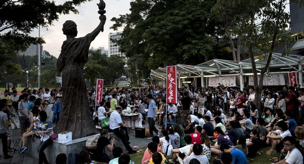 Students at the Chinese University of Hong Kong. (File)