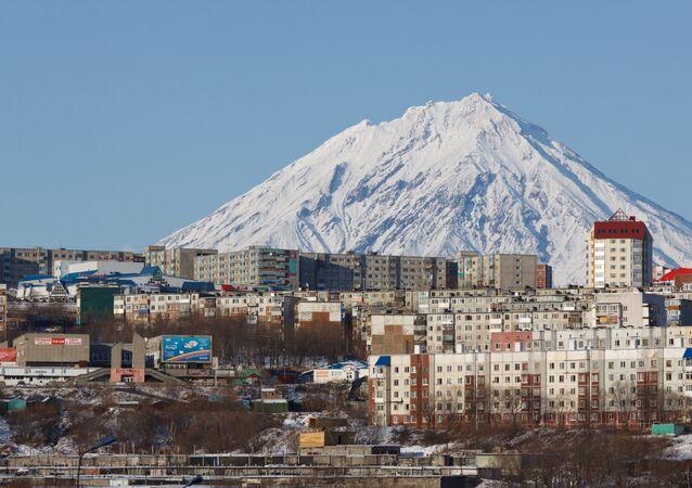 Residential buildings in Petropavlovsky-Kamchatsky