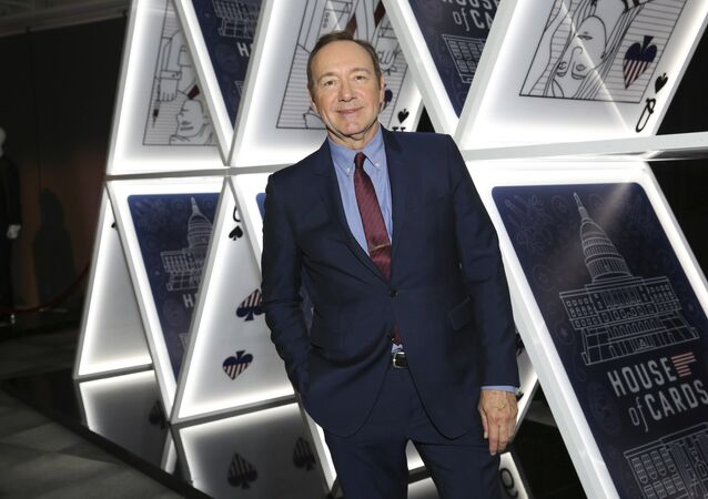 Kevin Spacey seen at the House of Cards event at the Netflix FYSee exhibit space with Q&A panel at the Samuel Goldwyn Theater on Monday, May 07, 2017, in Los Angeles