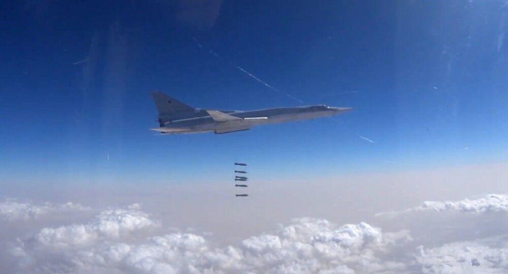 Tupolev Tu-22M3 strategic bombers hit terrorist targets