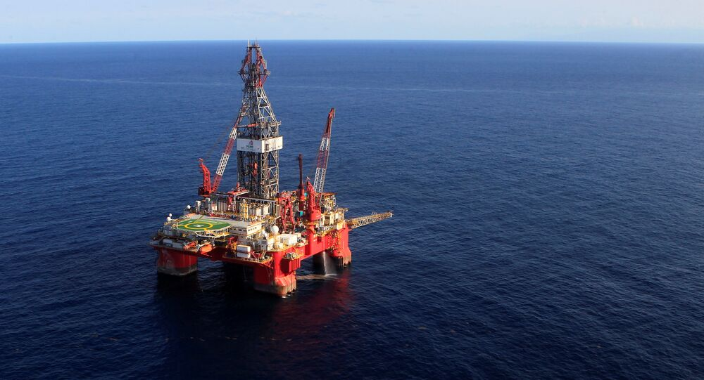 A general view of the Centenario deep-water oil platform in the Gulf of Mexico off the coast of Veracruz, Mexico January 17, 2014