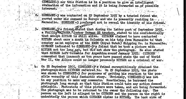 A recently declassified CIA document on Hitler