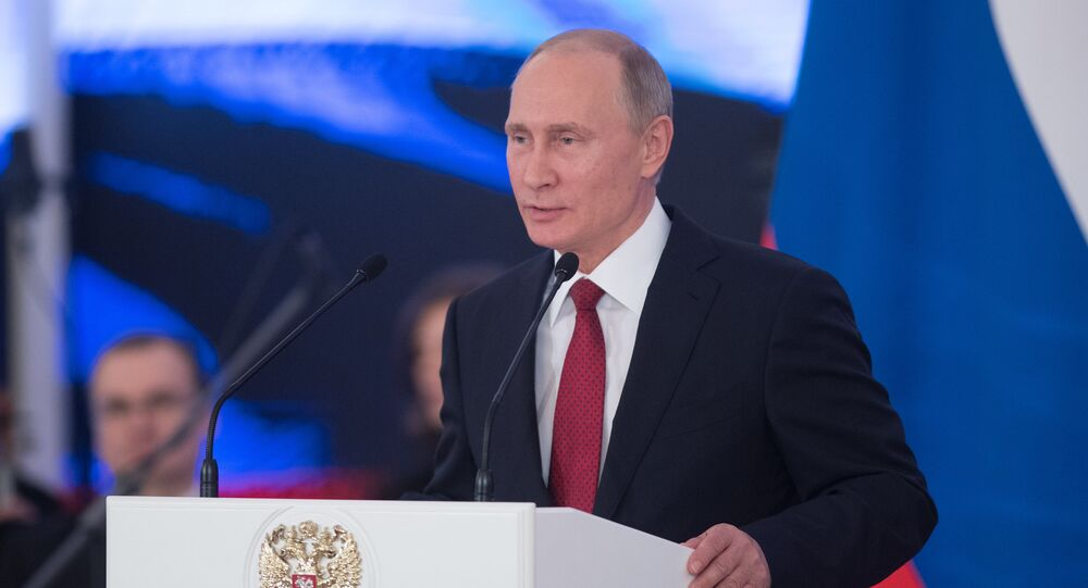Russian President Vladimir Putin presents Russian state awards on National Unity Day