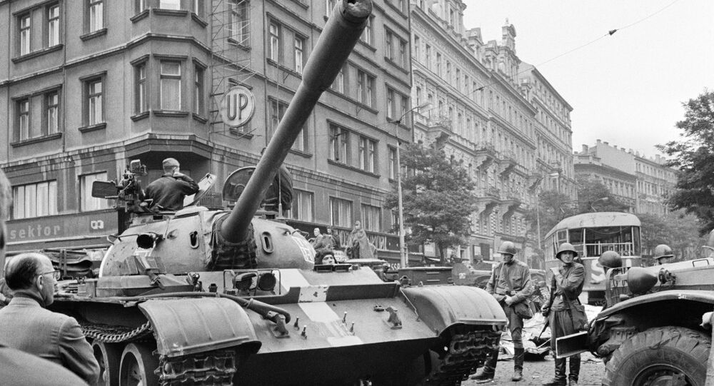Soviet tanks in the streets of Prague. File photo