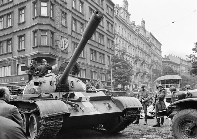 Soviet tanks in the streets of Prague. File photo