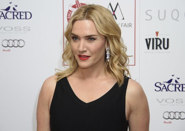 In this Jan. 17, 2016 file photo, Kate Winslet poses for photographers at the Critics Circle Awards at a central London venue, London.
