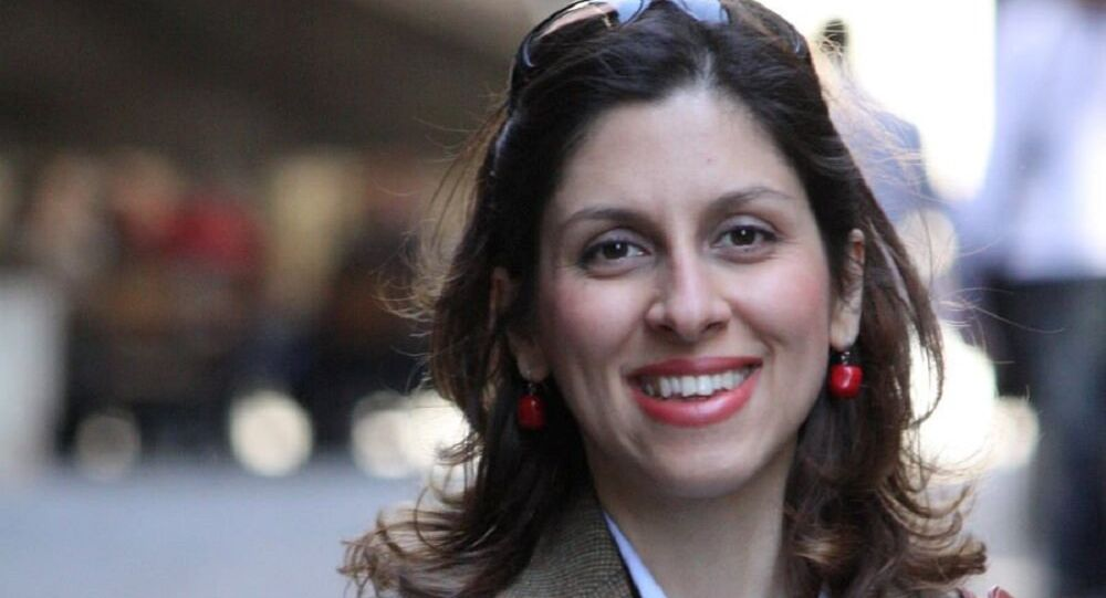 Iranian-British aid worker Nazanin Zaghari-Ratcliffe is seen in an undated photograph handed out by her family