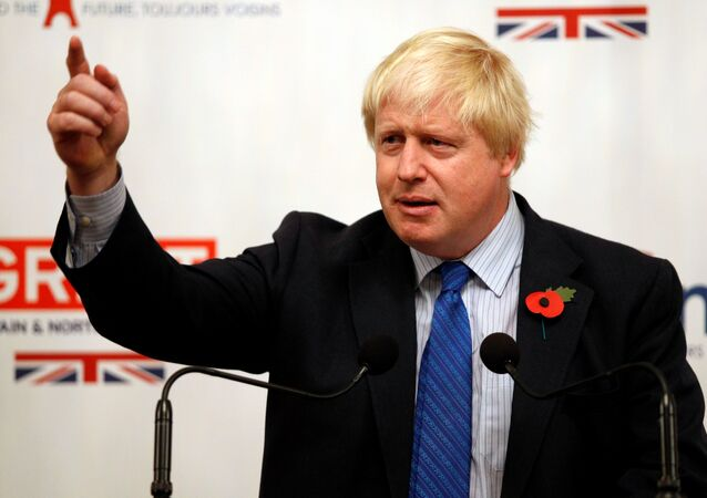 Britain's Foreign Secretary Boris Johnson gives a speech at the British Embassy during his European tour on Brexit, in Paris, France, October 27, 2017.