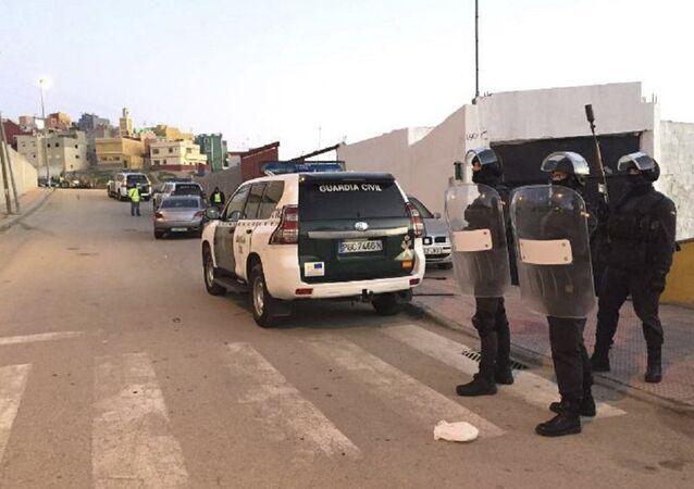 Spanish Guardia Civil officers in Ceuta, Spain. (File)