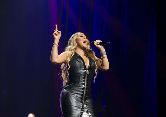 Mariah Carey performs during the All The Hits tour at The BB&T Center in Fort Lauderdale, FL