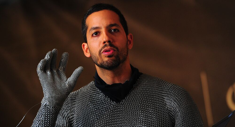 US Magician David Blaine is dressed to perform a small preview of his upcoming performance Electrified, during a press conference in New York. (File)