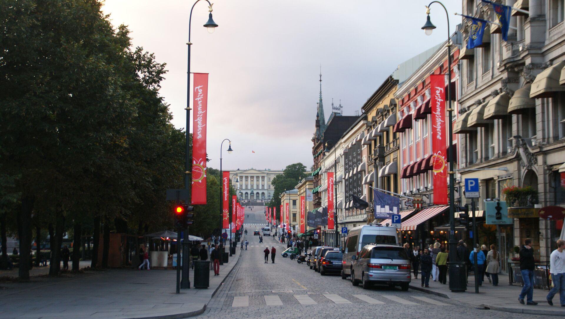 Karl Johan's Gate Street, Oslo - Sputnik International, 1920, 05.08.2021