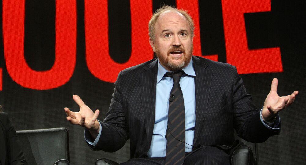 Cast members Pamela Adlon and Louis C.K. participate in the Louie panel at the Television Critics Association (TCA) Winter Press Tour in Pasadena, California, U.S., January 18, 2015