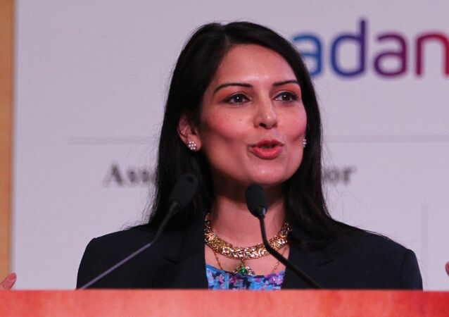 Priti Patel speaks during the inauguration of Youth Pravasi Bharatiya Divas in Gandhinagar, India, Wednesday, Jan. 7, 2015.