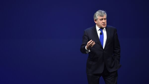 Gordon Brown, former Prime Minister of the UK, is seen at EF Education First - A Day With World Leaders, on Friday, Feb. 13, 2015 in Boston. - Sputnik International