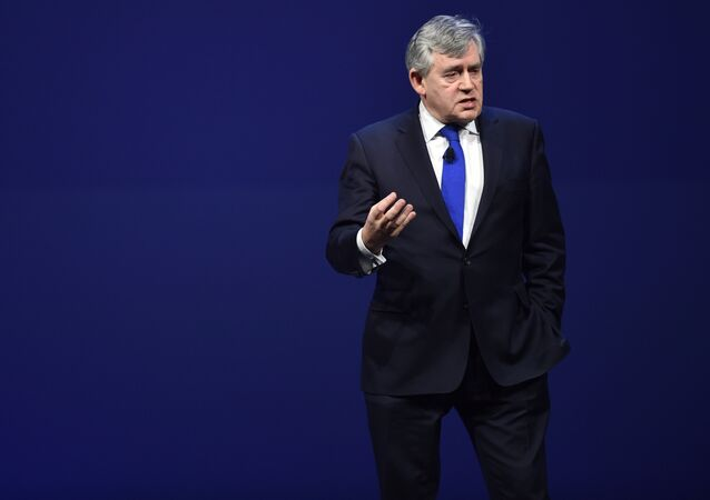 Gordon Brown, former Prime Minister of the UK, is seen at EF Education First - A Day With World Leaders, on Friday, Feb. 13, 2015 in Boston.