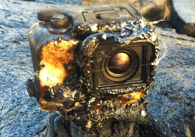 GoPro Got Covered by Lava