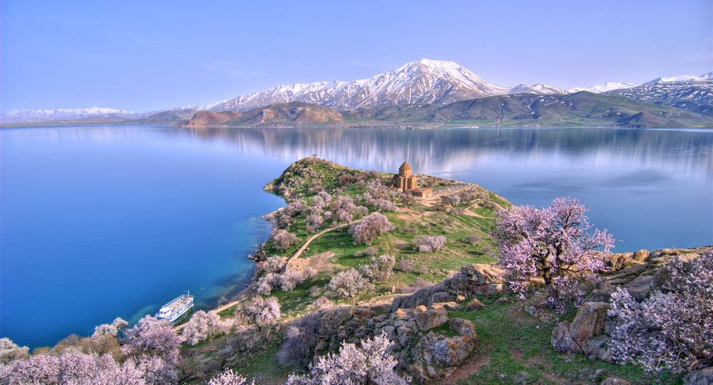 The Akhtamar Island in Lake Van