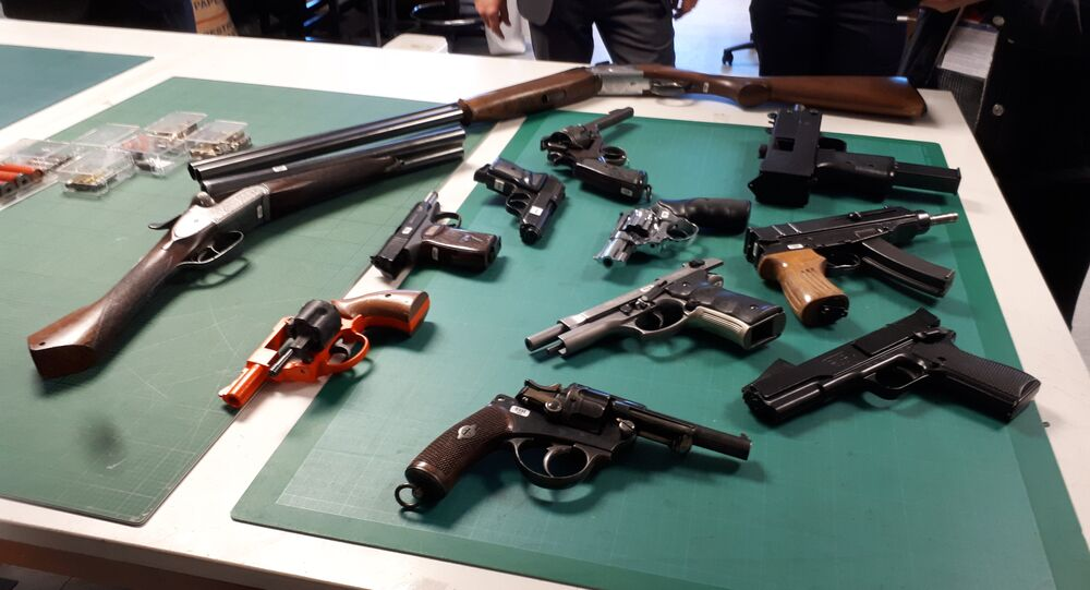 Some of the guns that have been seized or handed in to police in London