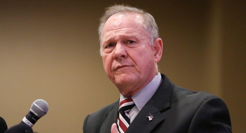 Judge Roy Moore participates in the Mid-Alabama Republican Club's Veterans Day Program in Vestavia Hills, Alabama, U.S., November 11, 2017